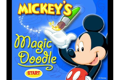 Mickey Mouse Online Games - Mickey's Magic Doodle Game ...