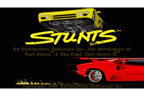 Stunts gameplay (PC Game, 1990) - YouTube