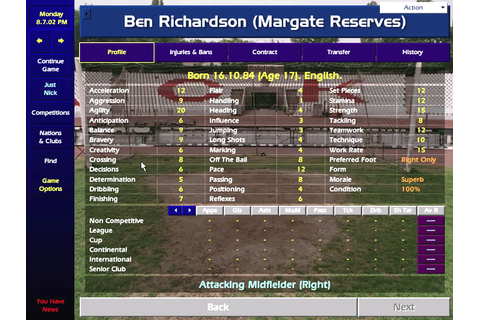 Championship Manager: Season 00/01 Download Game ...