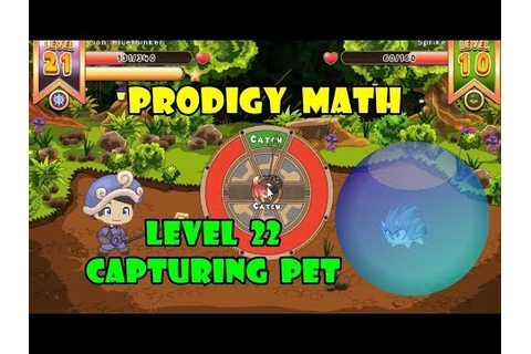 Capturing Pets | ¡Go To Level 22! | Prodigy Math Game ...