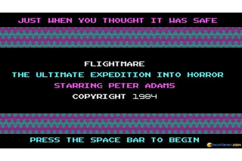 Flightmare gameplay (PC Game, 1984) - YouTube