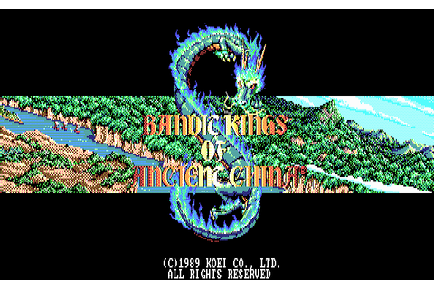 Bandit Kings of Ancient China (1990) by Koei / Infogrames ...