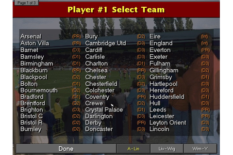 Championship Manager 96/97 Screenshots