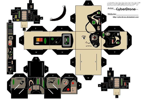 Star Trek Cutouts | Star Trek - Borg Drone by CyberDrone ...