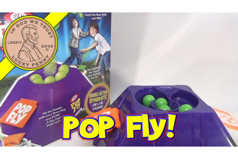 Pop Fly Game, Ideal Toys - The Harder the Throw the Higher ...