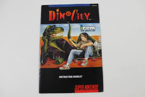 Manual - Dinocity - Snes Super Nintendo Dino City
