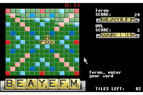 Computer Scrabble De Luxe (1988) by Gang of Five Amiga game