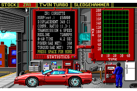 Download Vette! racing for DOS (1989) - Abandonware DOS