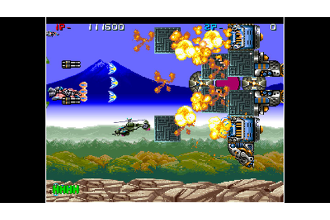 Grab some old school scrolling shoot em up action as ACA ...