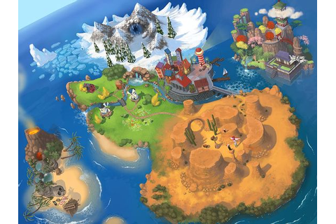 Steam world map - The layout of the several levels in the ...