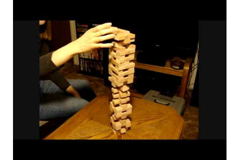 Jenga record? 36 layers game build fun fast record video ...