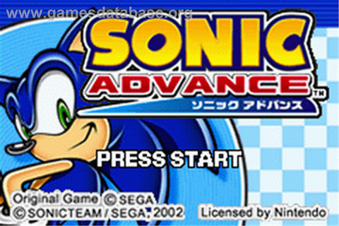 Sonic Advance - Nintendo Game Boy Advance - Games Database