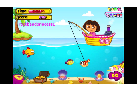 Dora The Explorer Online Games Dora Goes Fishing Game Full ...