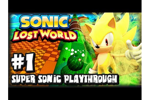 Sonic Lost World Wii U - (2K HD) Super Sonic Playthrough ...