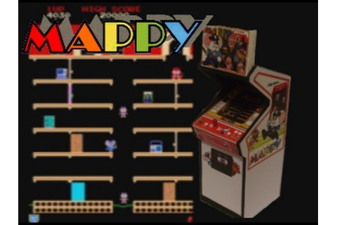 Mappy (Arcade) Gameplay - YouTube