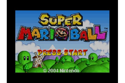 Super Mario Ball ( Mario Pinball Land ) - GBA/WiiU - Game ...
