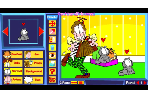 0395 Garfield Comic Creator Game Garfield Games Online ...