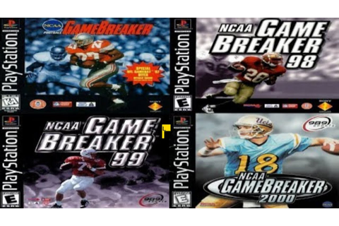 NCAA Gamebreaker All PS1 Bowl Games - YouTube