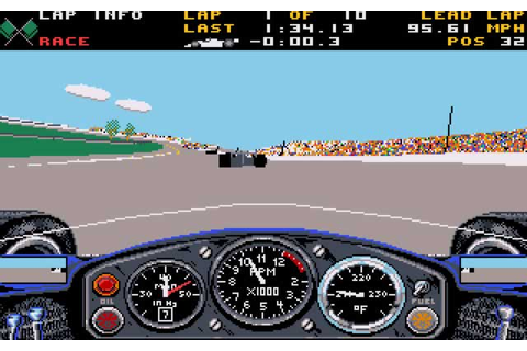 Download Indianapolis 500 racing for DOS (1989 ...