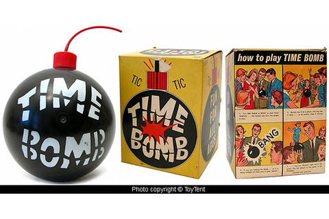 Time Bomb | 1960s party game made by Milton Bradley, back ...