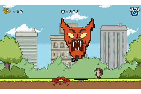 Regular Show: Mordecai and Rigby in 8-Bit Land (3DS) Game ...