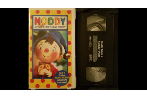 Noddy Gives a Birthday Party (1999 PolyGram Video VHS ...