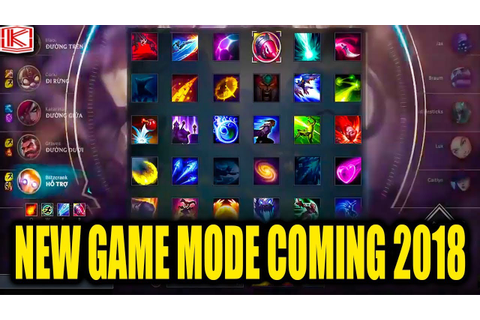NEW GAME MODE COMING 2018? - League of Legends - YouTube