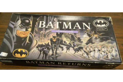 Batman Returns 3-D Board Game Review and Rules | Geeky Hobbies