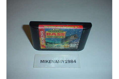 TNN Outdoors BASS TOURNAMENT '96 game cartridge only Sega ...