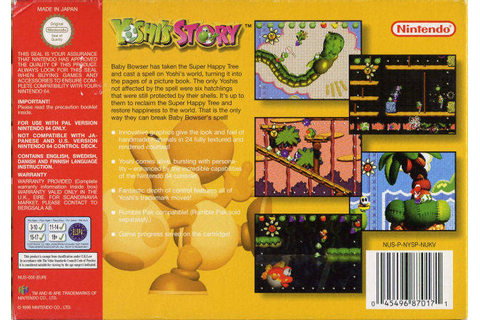 Yoshi's Story (Europe) N64 ROM - NiceROM.com - Featured ...