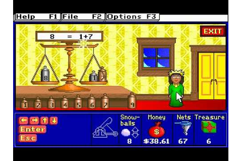 Treasure MathStorm! Gameplay (DOS Version) - YouTube