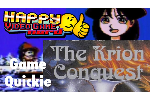 HVGN Game Quickie: The Krion Conquest (NES) - YouTube