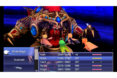 Final Fantasy IV (PC) - Final Boss: Zeromus (Active/Hard ...