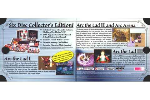 Arc the Lad Collection (2002) PlayStation box cover art ...