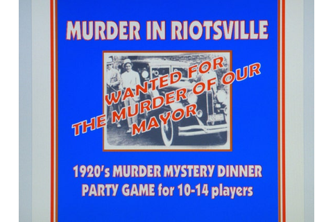 1920's Murder Mystery Dinner Party Game for 10-14