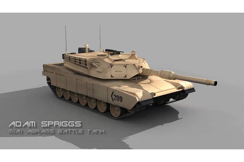 Abrams Battle Tank 3D Model - YouTube