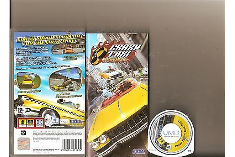 CRAZY TAXI FARE WARS SONY PSP HANDHELD 2 GAMES CRAZY TAXI ...