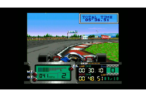 Classic Game Room - FORMULA ONE: BEYOND THE LIMIT for Sega ...