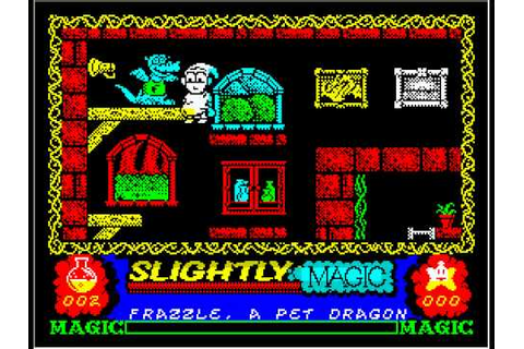 SLIGHTLY MAGIC (zx spectrum game) - YouTube