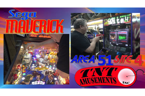 #1081 Atari AREA 51 SITE 4 Arcade Game & Sega MAVERICK ...