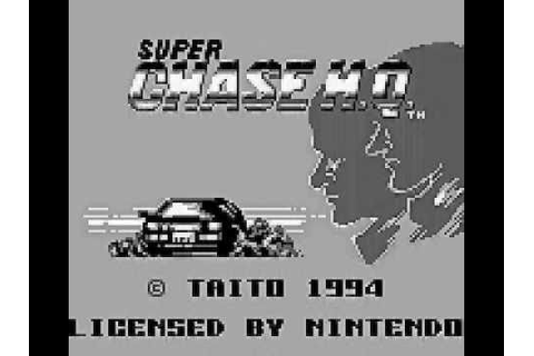 Super Chase H.Q. (GAME BOY - 1994 - INTRO - GAMEPLAY ...