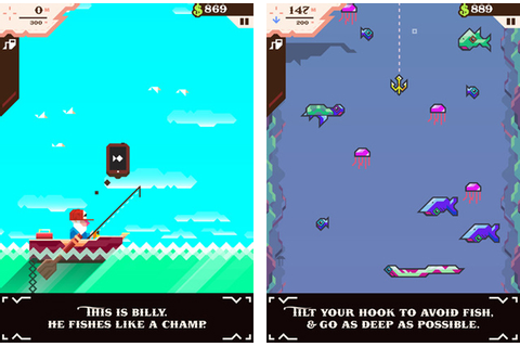 Ridiculous Fishing, iOS Fishing Game With Guns, Chainsaws ...