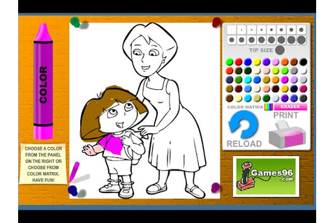 Dora The Explorer Coloring Games - Dora And Mom Coloring ...