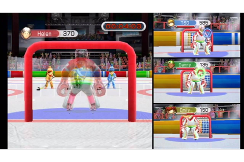 30 Great Games Winter Fun (Wii) Hockey Goalie - YouTube