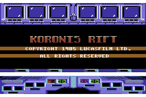 Koronis Rift (1985) by Lucasfilm Games C64 game