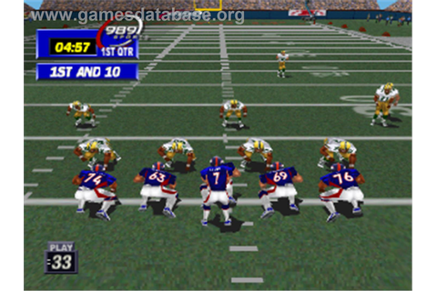 NFL GameDay '99 - Sony Playstation - Games Database