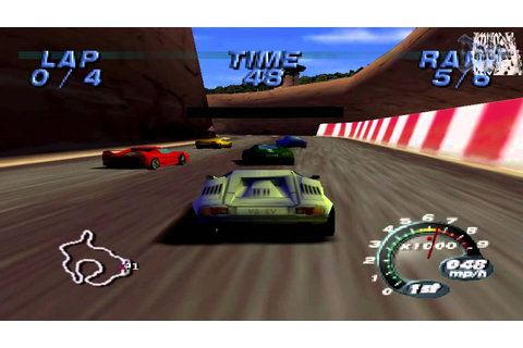 Automobili Lamborghini Arcade Gameplay (Nintendo 64) - YouTube