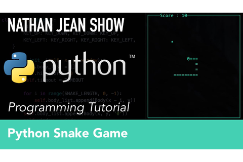 Python Tutorial: Snake Game With Curses - YouTube