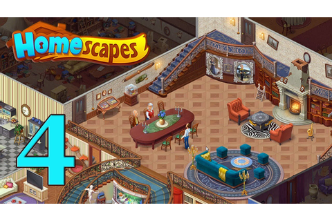 HomeScapes Gameplay Story Living Room Day 4 - YouTube