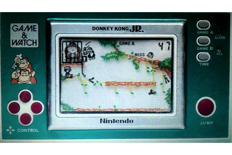 LCD Games: Donkey Kong Jr Nintendo Game & Watch - YouTube